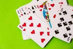 tła kart kasyna zielony bawić się Zdjęcia Royalty Free