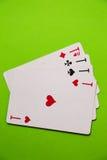 tła kart kasyna zielony bawić się Fotografia Stock