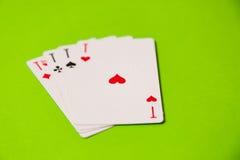 tła kart kasyna zielony bawić się Obrazy Stock