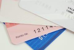 tła kart kredyt pieniężny Obraz Royalty Free