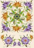 tła karty doodle kwiecista ramowa powitania strony szablonu cechy ogólnej sieć Fotografia Royalty Free