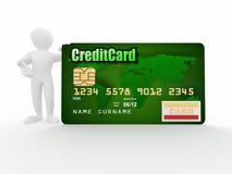 tła karty kredyta odosobneni mężczyzna biały Fotografia Royalty Free