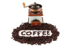 tła kawowego ostrzarza odosobniony biel Zdjęcia Stock