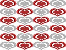 tła kierowej miłości bezszwowi kształty Fotografia Royalty Free