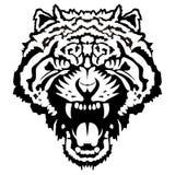 tła kierownicza ilustracja odizolowywający sylwetki tygrysi biel zdjęcie royalty free