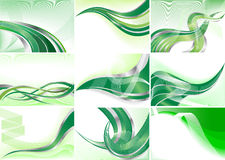 tła kolekci zieleni wektor Fotografia Stock