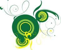 tła kolor żółty dekoracyjny zielony ilustracja wektor