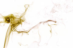 tła kolor żółty dymny biały Zdjęcie Stock