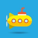 tła kolor żółty odosobniony podwodny biały Zdjęcie Stock