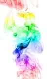 tła kolor odizolowywający dymny biel Fotografia Royalty Free