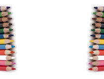 tła kolor odizolowywający ołówkowy biel Fotografia Stock