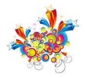 tła kolorowe fantazi gwiazdy Obraz Stock