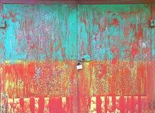 tła kolorowego grunge metalu stary ośniedziały Fotografia Royalty Free