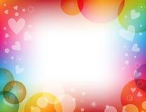 tła kolorowy serc wektor Fotografia Stock