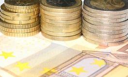 tła kolorowy waluty euro europejczyk Obrazy Royalty Free