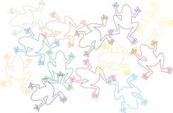 tła koloru żaby dużo Zdjęcia Stock