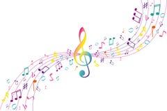tła koloru musical ilustracji