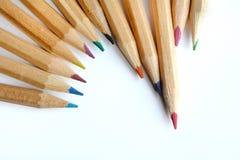 tła koloru ołówki Zdjęcie Royalty Free