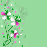 tła koloru projekta kwiatów zieleń Zdjęcia Royalty Free