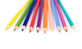tła koloru składu ołówki biały Zdjęcie Royalty Free