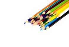 tła kolorytu kredki ołówki biały Zdjęcia Stock