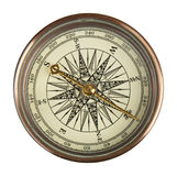 tła kompasu ostrości selekcyjny biel Zdjęcie Stock