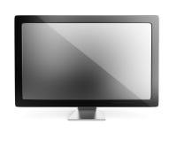 tła komputerowego pokazu odizolowywający monitor nad biel Obraz Royalty Free