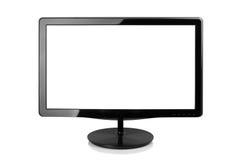 tła komputerowego pokazu odizolowywający monitor nad biel obraz stock