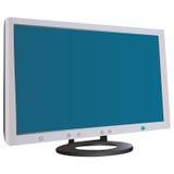 tła komputerowego pokazu odizolowywający monitor nad biel ilustracji
