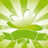 tła koniczynowy liść faborek paskujący Obraz Royalty Free