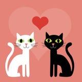 tła kotów różowy valentine Obraz Stock