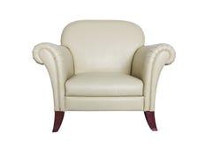 tła kremowy rzemienny kanapy biel fotografia royalty free
