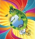 tła kreskówki jaszczurka ilustracja wektor