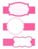 tła kropki ramy polka ilustracji