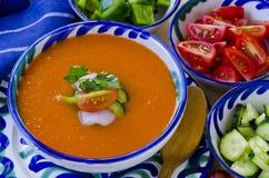 tła kuchni ostrości pomarańcz paella czerwoni ryżowi selekcyjni spanish wine gazpacho zdjęcie royalty free
