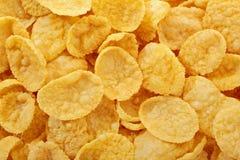 tła kukurydzanych płatków makro- pracowniany biel Zdjęcie Royalty Free