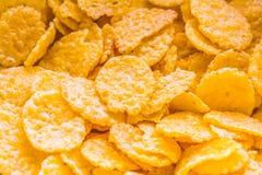 tła kukurydzanych płatków makro- pracowniany biel zdjęcia royalty free