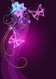 tła kwiatów target1087_0_ royalty ilustracja