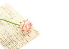tła kwiatu pocztówek rocznik Obrazy Royalty Free