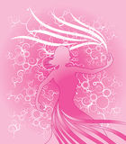 tła kwiatu sylwetki kobieta ilustracja wektor