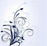 tła kwiecisty błękitny Obrazy Royalty Free