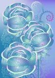 tła kwiecisty błękitny Zdjęcia Royalty Free