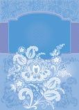 tła kwiecisty błękitny dekoracyjny Zdjęcie Royalty Free