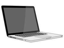 tła laptopu nowożytny elegancki biel Obrazy Royalty Free