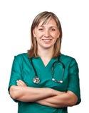 tła lekarki odosobniona biała kobieta Fotografia Royalty Free
