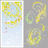 tła liść wiosna Obraz Stock
