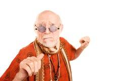 tła mężczyzna poncza starszy miotania biel Obrazy Stock