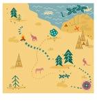 tła mapy stary papierowy skarbu wektor Fotografia Royalty Free