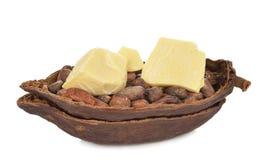 tła masła kakao kropli ilustraci stylizowany biel Obraz Royalty Free