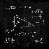 tła matematyk teoremata trójbok Obraz Royalty Free